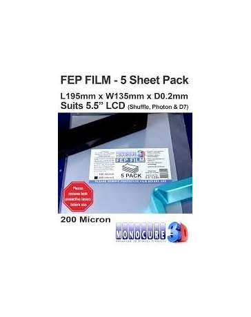 FEP FILM 200 Micron (5 Sheet Pack)